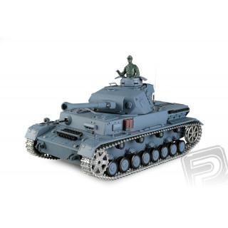 RC tank 1:16 PanzerKampfwagen IV Ausf. F2 kouř. a zvuk. efekty + kov.tunning (Infrared)