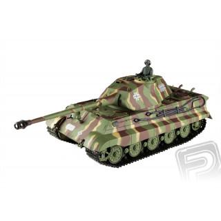 RC tank 1:16 German King Tiger (věž Porsche) kouř. a zvuk. efekty