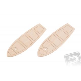 Dřevěné sedačky pro člun 32x90mm (2 ks)