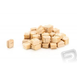 Kladka trojitá dřevěná 7,5mm (50 ks)