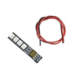 RGB LED PCB 4S 16V s DIP-přepínači