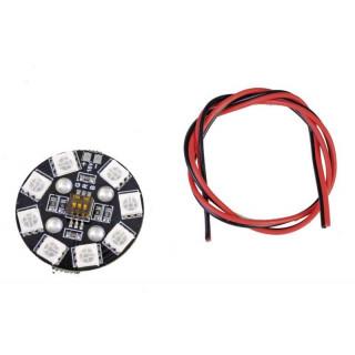 RGB LED PCB kulatý 4S 16V s DIP-přepínači