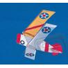 Stavebnice draku o rozpětí 1219mm ve tvaru amerického palubního stíhacího dvojplošníku Curtiss F3-F-2. Obsahuje sadu lipových lišt a plastových spojek, potištěný potahový papír a stavební plán ve skutečné velikosti.