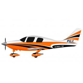 """128"""" Columbia 400 scale 30% (3 250 mm) 50ccm (oranžovo/bílá)"""