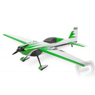 """87"""" Extra 260 scale 30% (2 200 mm) 50ccm (zeleno/stříbrno/bílá)"""