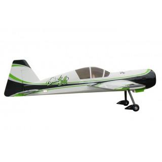 """107"""" Yak 54 scale 35% (2 700 mm) 100ccm (zeleno/stříbrno/černá)"""