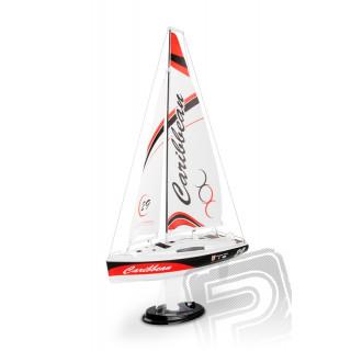 Caribbean V2 RTR 2,4GHz plachetnice červená