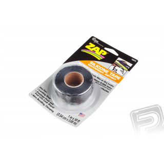 """ZAP Černá silikonová páska 2,54x305cm (1""""x10')"""