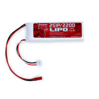 POWER PACK Li-Pol 2200mAh/7,4V 30C s BEC konektorem