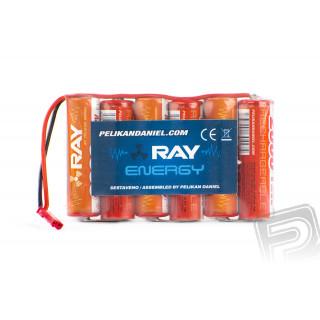 7.2V 2000AA Long RAY 6čl. pohon s BEC konektorem