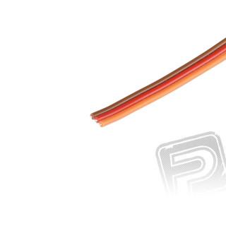 Kabel třížilový plochý tlustý JR 0.25mm2 (PVC)
