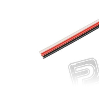 Kabel třížilový plochý tlustý FU 0.25mm2 (PVC)