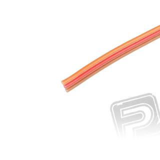 Kabel třížilový plochý tenký JR 0.14mm2 (PVC)