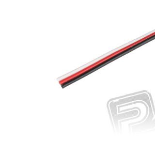 Kabel třížilový plochý tenký FU 0.14mm2 (PVC)