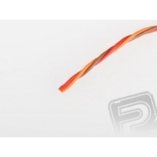 Kabel třížilový kroucený tenký JR 0.14mm2 (PVC)