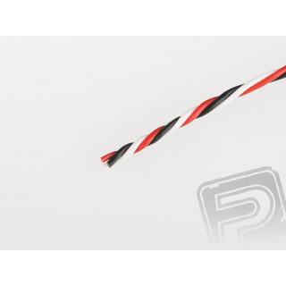 Kabel třížilový kroucený tenký FU 0.14mm2 (PVC)