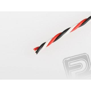 Kabel třížilový kroucený tlustý FU 0.25mm2 (PVC)