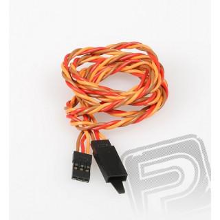 JR024 prodlužovací kabel kroucený 900mm JR s pojistkou (PVC)