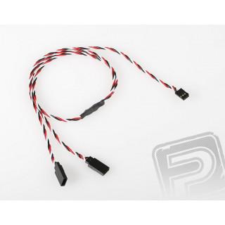 FU244 V-kabel kroucený 600mm Futaba (PVC)