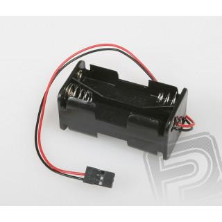 JR071 Pouzdro pro 4 tužkové baterie (AA) JR