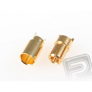 7945 G6.0mm 1 pár pružinový konektor zlatý