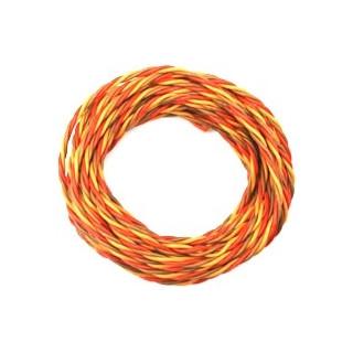 Kabel třížilový silikonový kroucený tlustý JR 0.25mm2