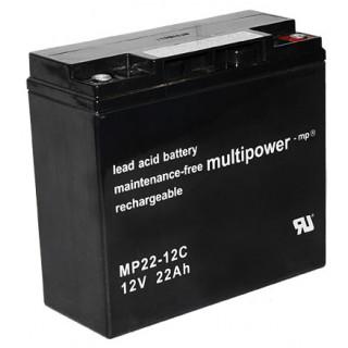 Pb akumulátor MULTIPOWER 12V/22,0Ah