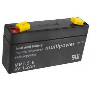 Pb akumulátor MULTIPOWER 6V/1,2Ah