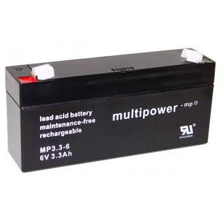 Pb akumulátor MULTIPOWER 6V/3,3Ah