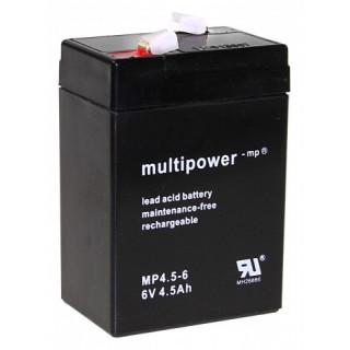 Pb akumulátor MULTIPOWER 6V/4,5Ah