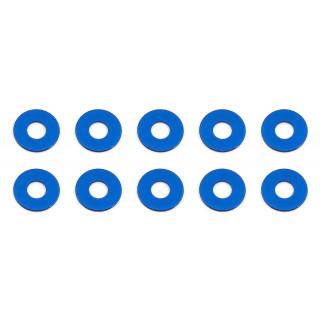 Bulkhead podložky, 7.8x0.5mm, modré alu, 10 ks.