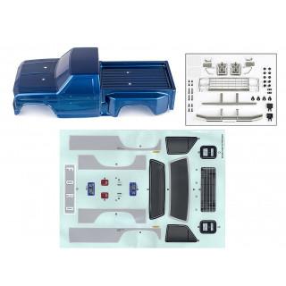 CR12 FORD F-150 modrá lexanová karoserie včetně nálepek a příslušenství