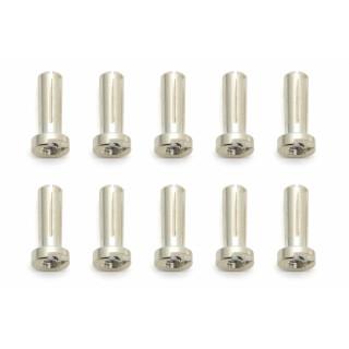 Low-Profile Bullet G4 stříbrné konektory, 10 ks.