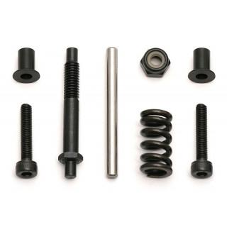 4X4 kovové části řízení (sloupky, šrouby, pružina)