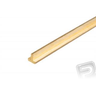 Mosazný profil, T, 2x2mm, 33cm x 5ks
