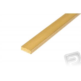 Mosazný profil, plochý, 3x1mm, 1m