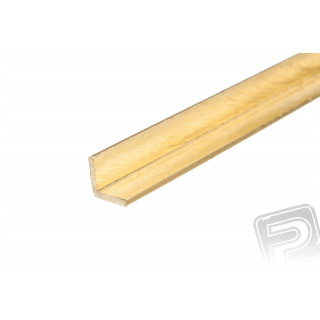 Mosazný profil, L, 3x3mm, 1m