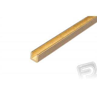 Mosazný profil, U, 2x2mm, 1m