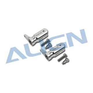 Kovové držáky listů sada/stříbrné pro T-REX 250 / 250SE