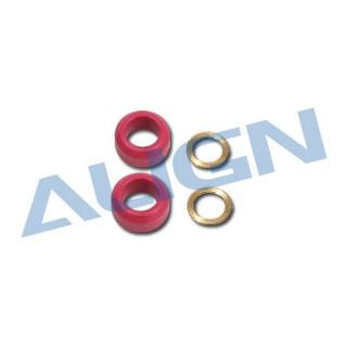 Tlumící gumové kroužky/červené 60° pro T REX 550E