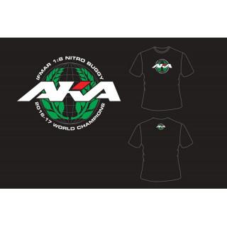 AKA IFMAR WORLD CHAMPIONS tričko černé (L) - HANES TAGLESS
