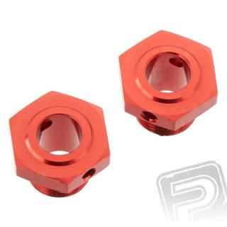 Náboj kola kov 13.6mm červený Typhon, 2 ks.
