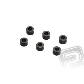 4x6mm podložky - šedé (6 ks.)