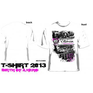TBittydesign 2013 tričko bílé Birth of a Hero, velikost L