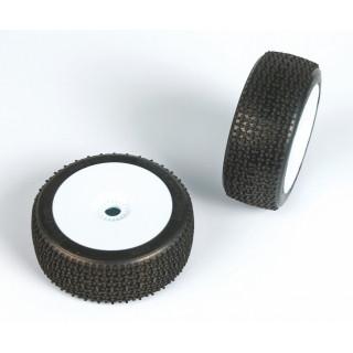 ENFORCER (soft směs) Off-Road 1:8 Buggy gumy nalep. na bílých disk. (2ks.)