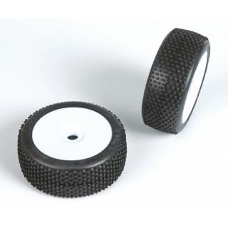 TYKYTAKA (medium směs) Off-Road 1:8 Buggy gumy nalep. na bílých disk. (2ks.)