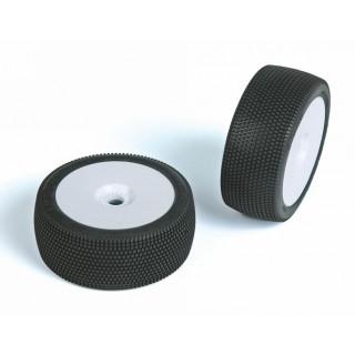 HURRICAN (super soft směs) Off-Road 1:8 Buggy gumy nalep. na bílých disk. (2ks.)