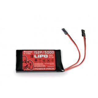 Vysílačový pack, LiPo 1S2P/5000 3,8V TX, 21Wh