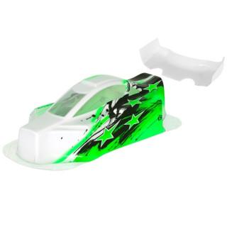 BX10 Bitty design lakovaná lexanová karoserie včetně křídla, zelená