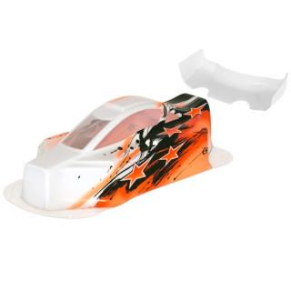 BX10 Bitty design lakovaná lexanová karoserie včetně křídla, oranžová